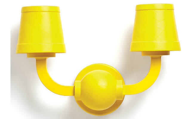 Wall lamp with a playul design