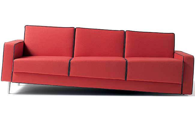 Sofa creates optical illusion