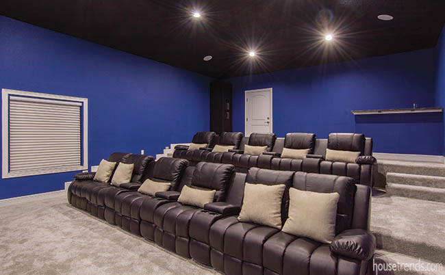 Home theater seating puts comfort first