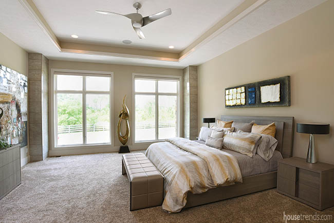 Tile connects master bedroom design to rest of home