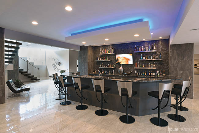 Lower level bar with a high-end design