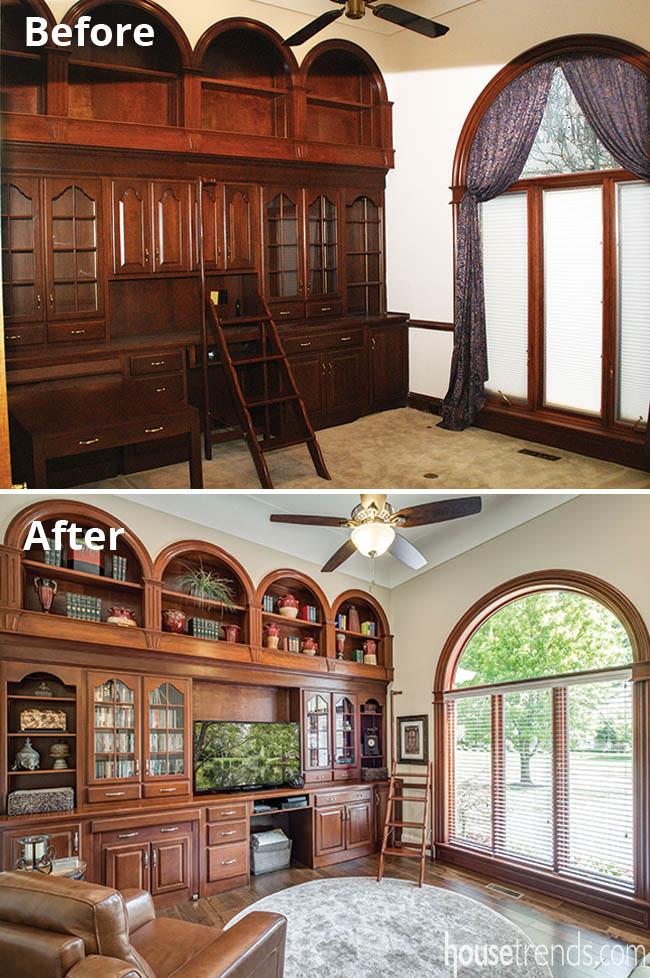 Home office remodel preserves woodwork