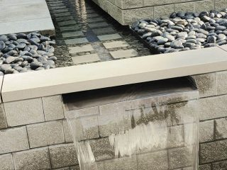 Contemporary waterfall soothes all
