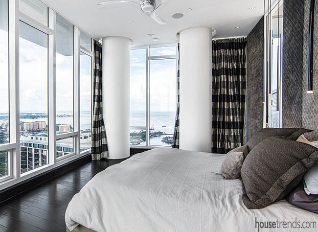 Luxurious feel in a master bedroom