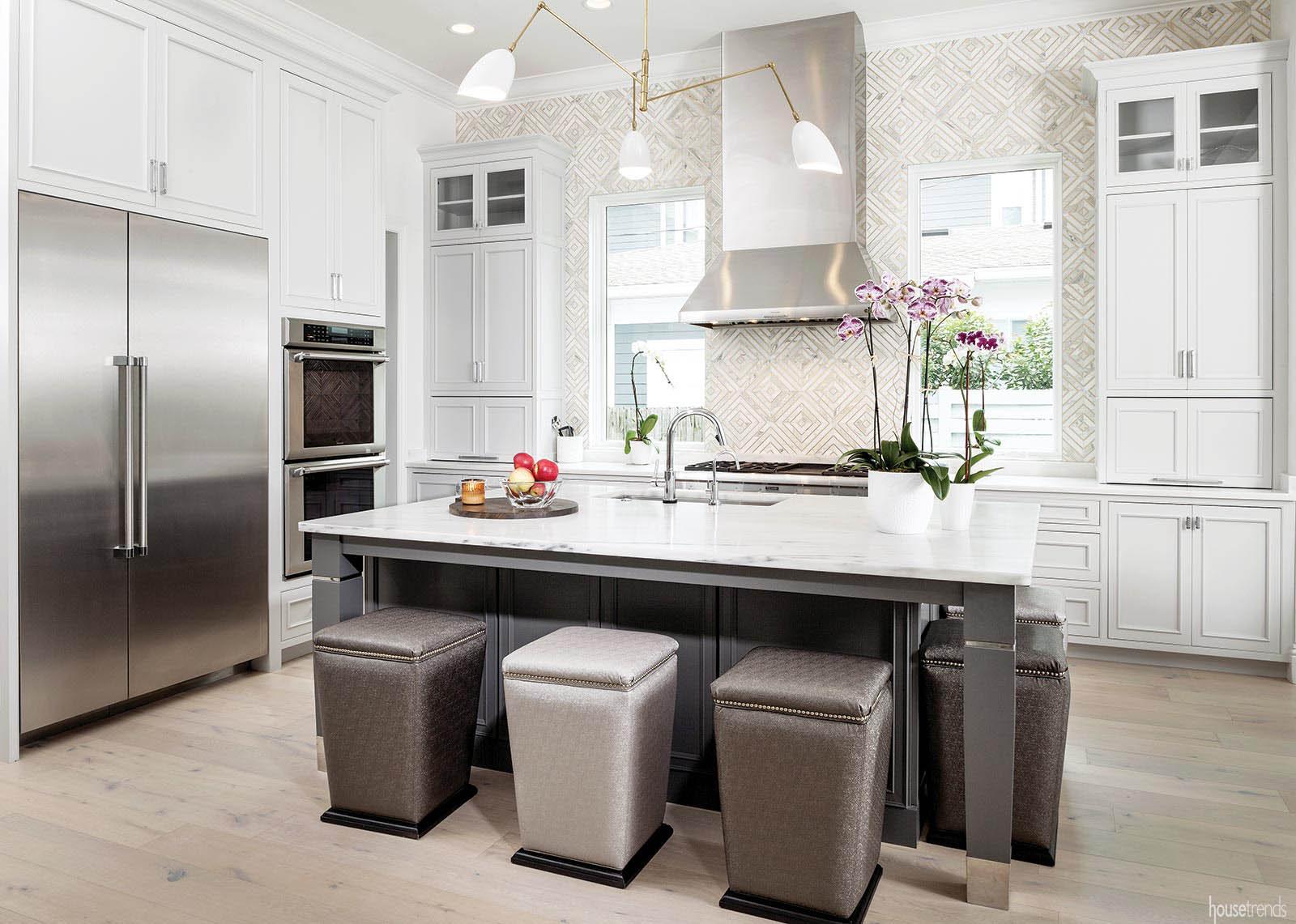 Kitchen boasts an appliance wall