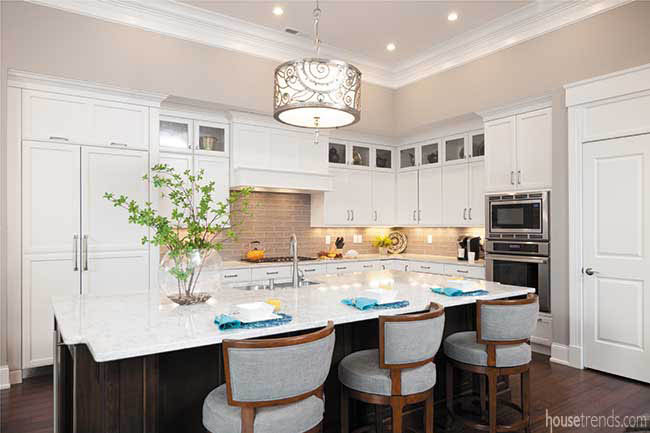 Open design concept great for entertaining