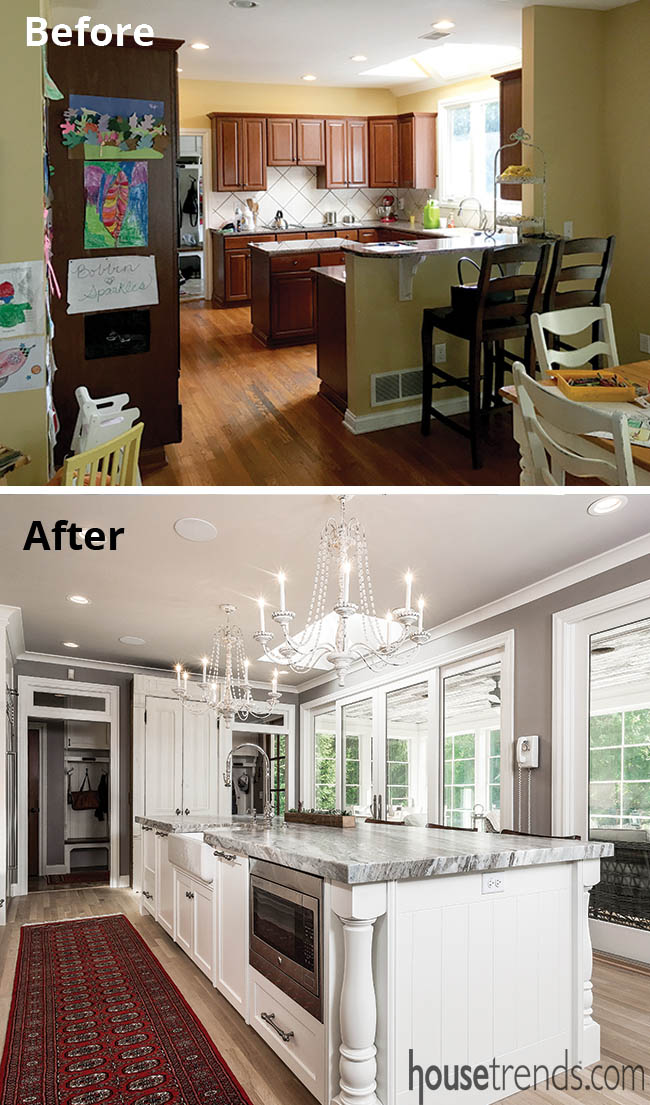 Kitchen remodel creates more light