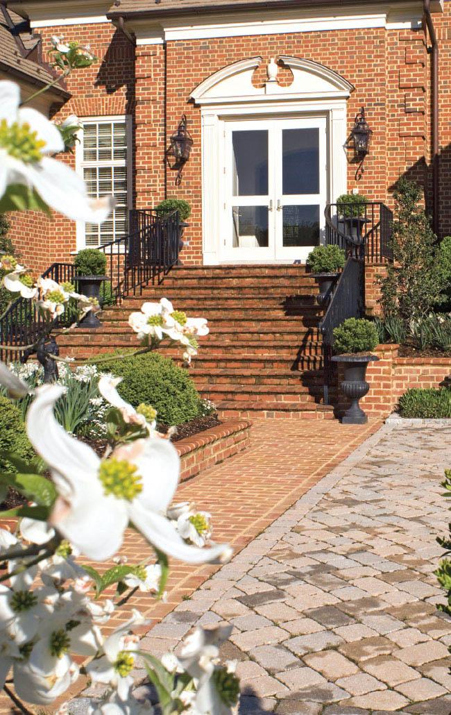 Landscape design centers around greenery