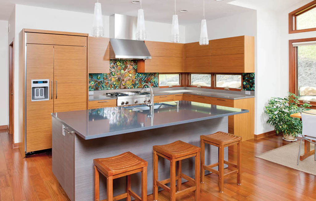 Kitchen island becomes a kitchen's focal point