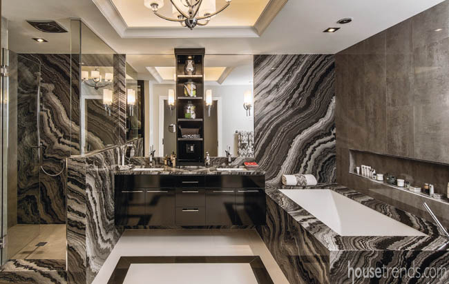 Tub surrounds add a dramatic touch