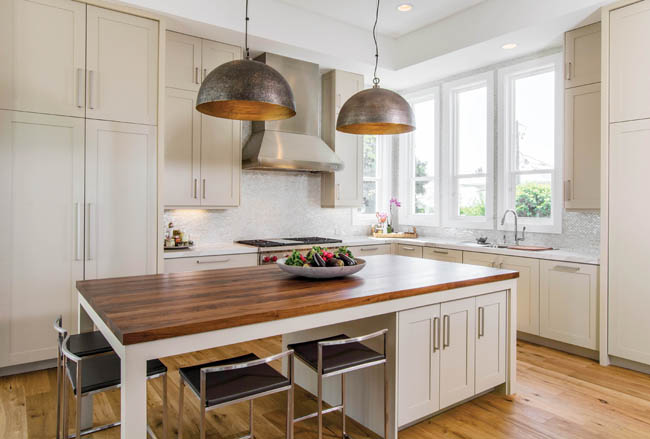 Popular choices for wood island countertops
