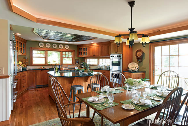 Kitchen boasts Amish built cabinetry
