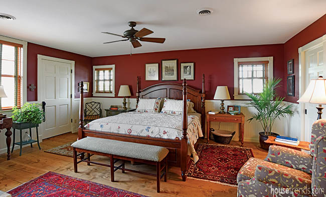 Vintage and new meet in this master bedroom