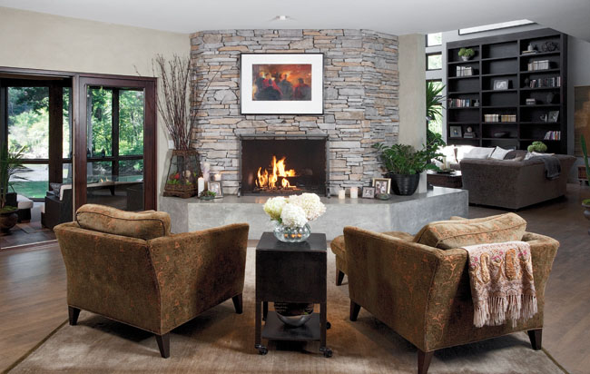 Home interior design creates a soothing atmosphere