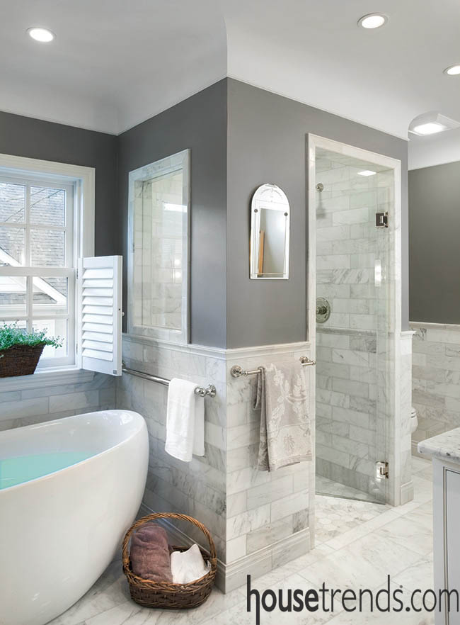 Shower design embraces natural light