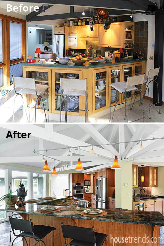 Kitchen remodel with traffic flow in mind