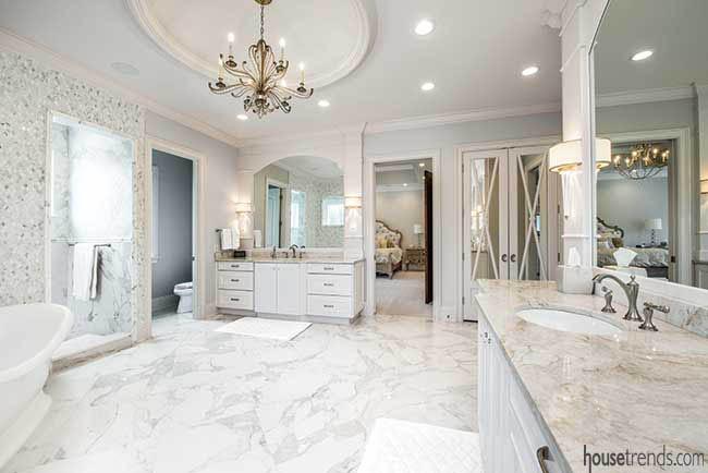 Heated flooring in a master bath