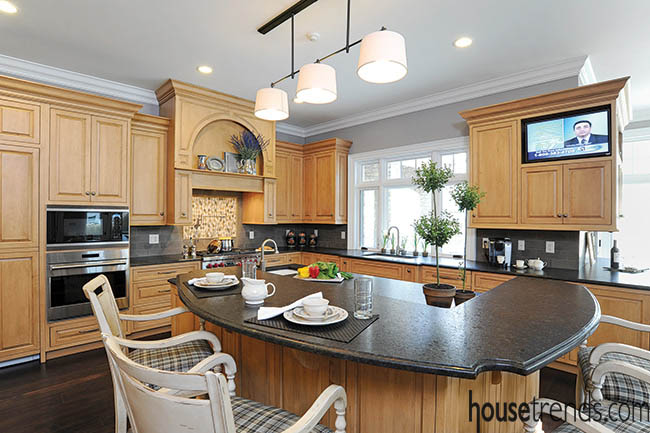 Granite countertops shy away from a shine