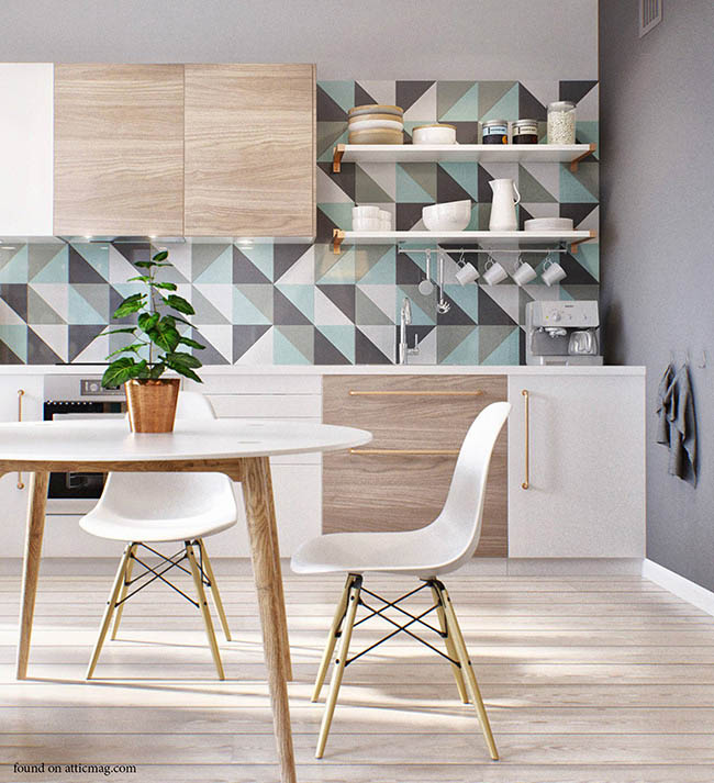 Bold wall treatments add spunk to homes