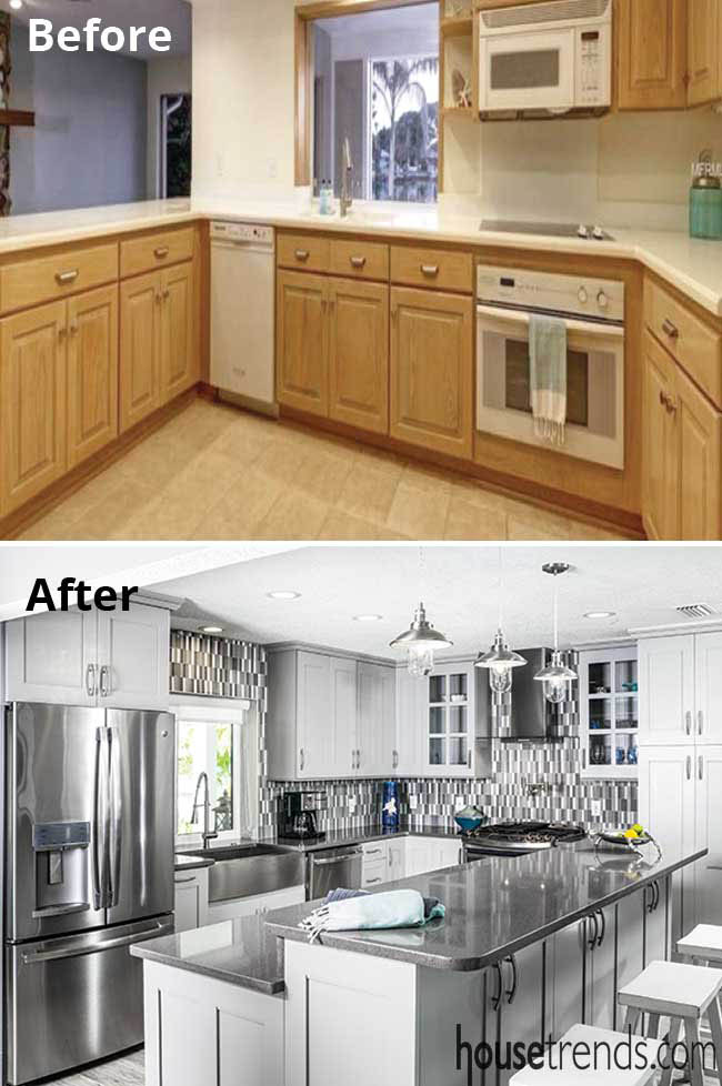Gray color scheme for a kitchen remodel