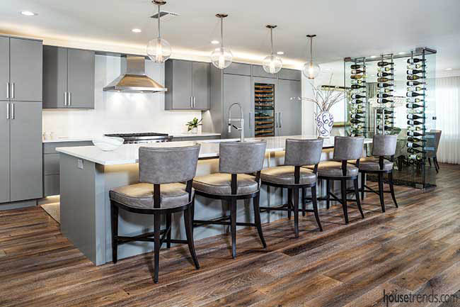 Custom cabnetry with a contemporary vibe