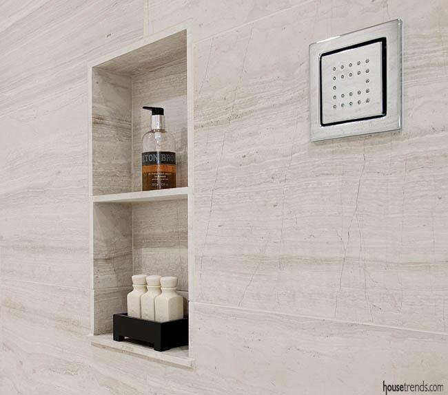 Shower design comes with convenient storage