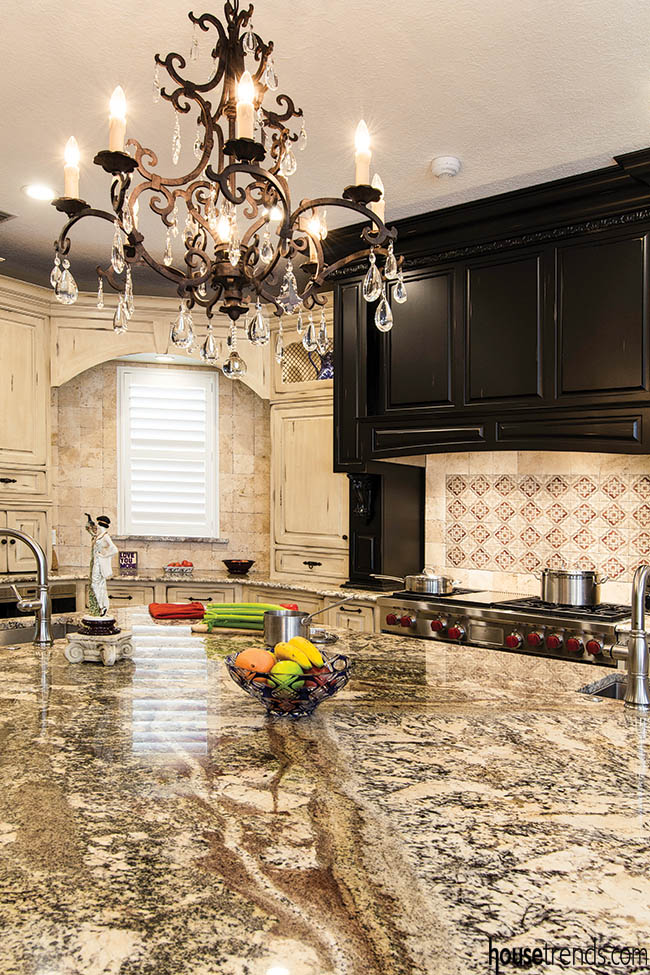 Granite countertops come together as one
