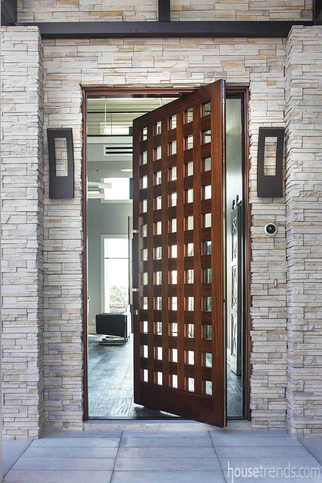 Entry door with a contemporary flair