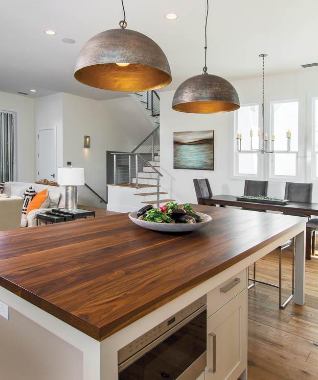 Kitchen pendant lighting creates talking point