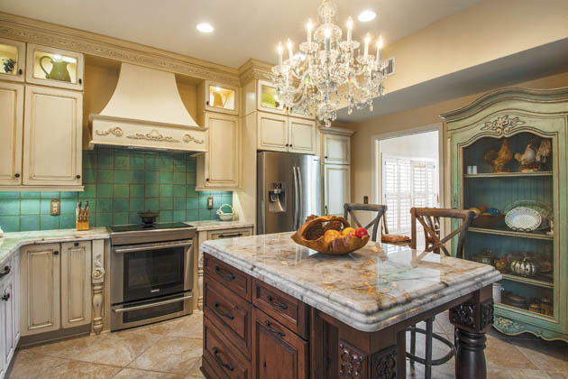 Countertop options reflect the homeowner's style