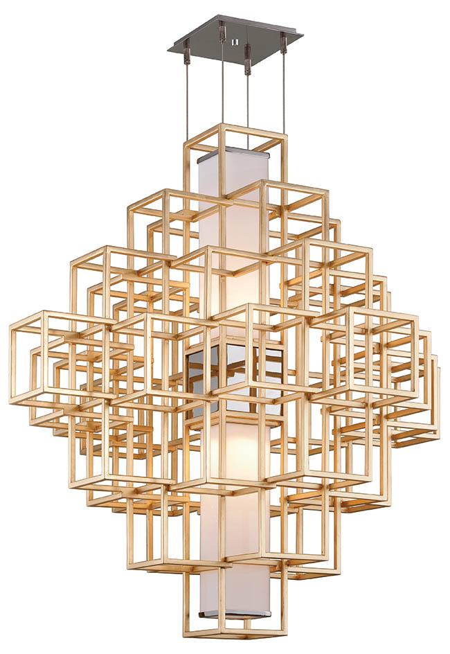 Pendant light with a geometric design