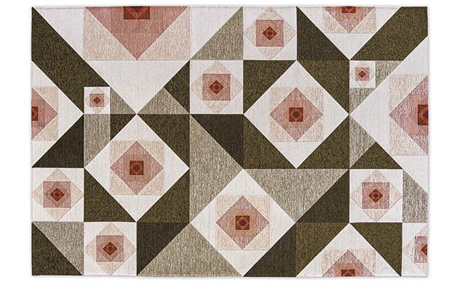 Rug with an abstract floral design