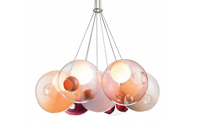 Colorful pendant lights from BOCCI