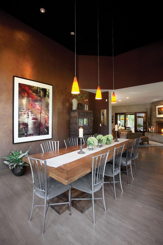 Dining room artwork outshines all else