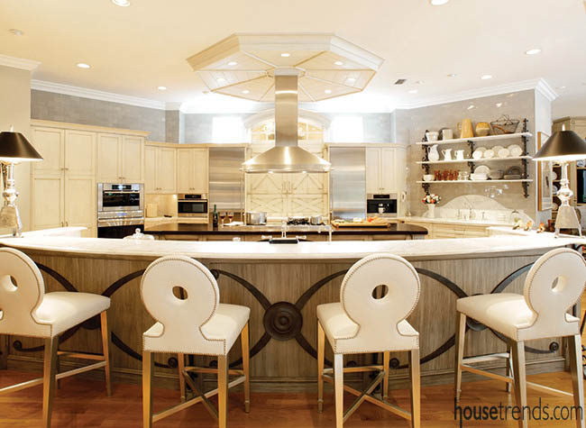Stainless steel hood shines in a kitchen design