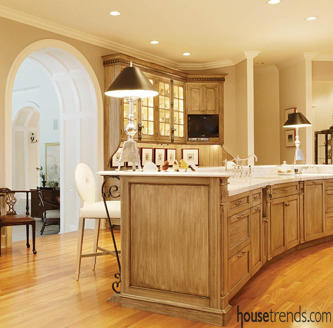Lighting controls the mood in a kitchen