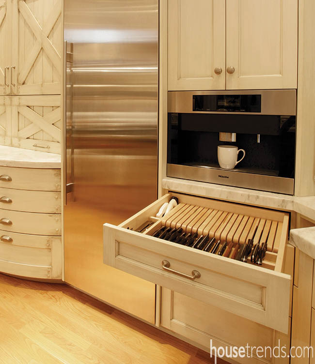 Wood dividers keep drawers organized