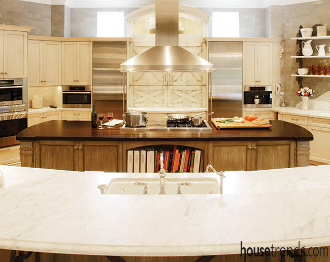 Kitchen renovation offers an eclectic design