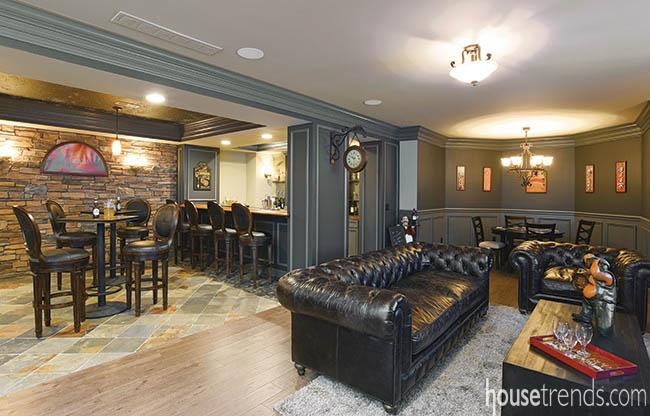 Basement designs boast room for entertaining