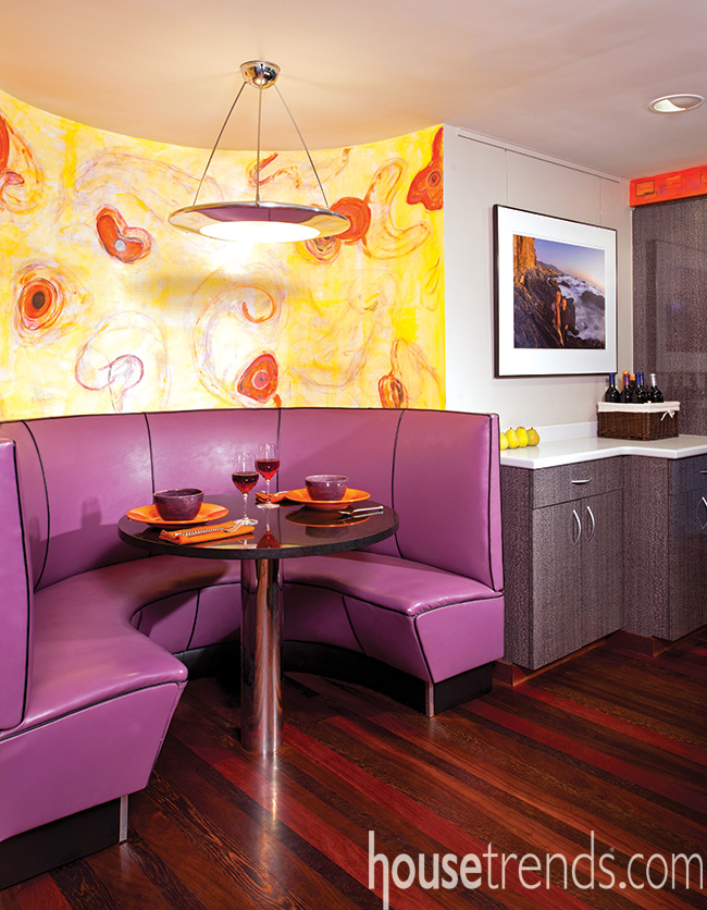 Painted wall murals add character and color