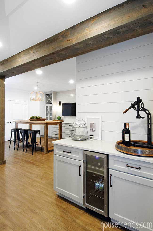 Shiplap adds farmhouse flair to a lower level remodel