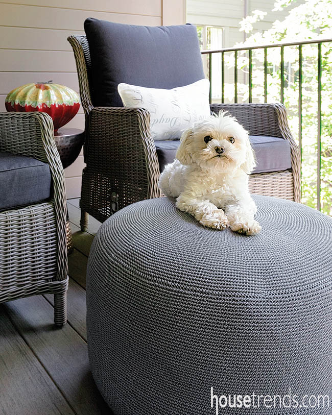 Outdoor furniture dresses up a patio