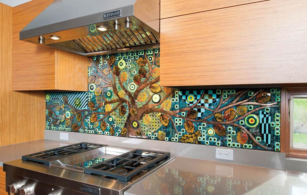 Backsplash designs reflect the homeowner's style