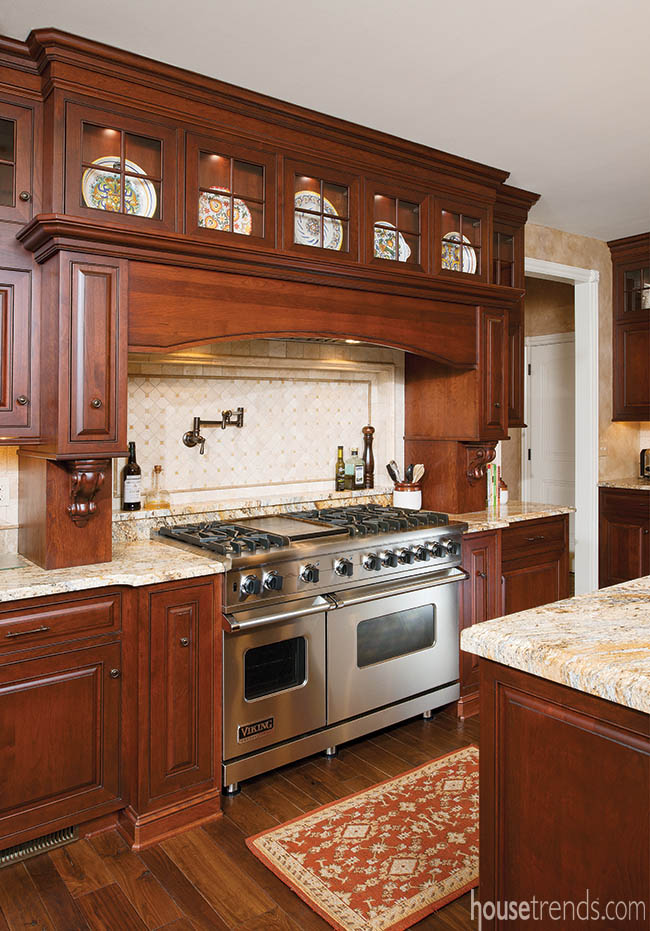 Gas range and double ovens make cooking a breeze