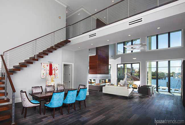 Open floor plan enable seamless transitions