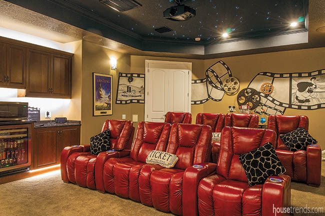 Home theater seating urges watchers to kick back and relax