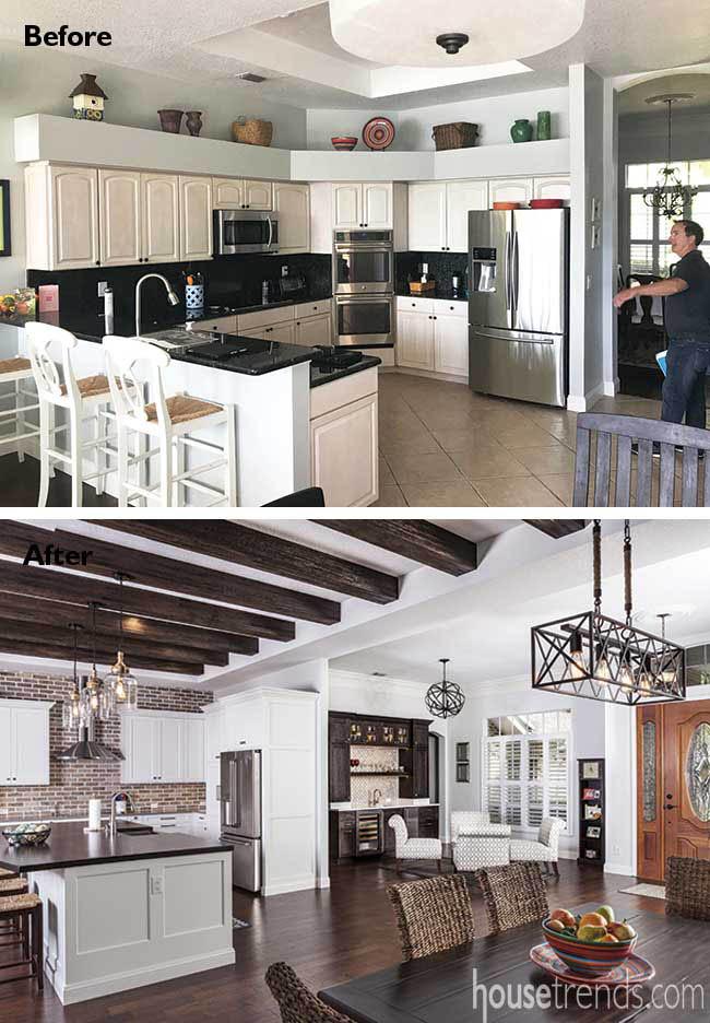Remodel creates open kitchen design