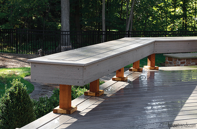 Benches conceal outdoor lighting