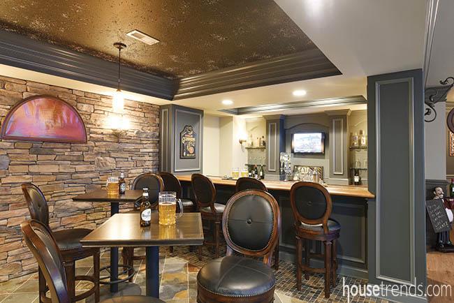 Bar furniture creates a polished look