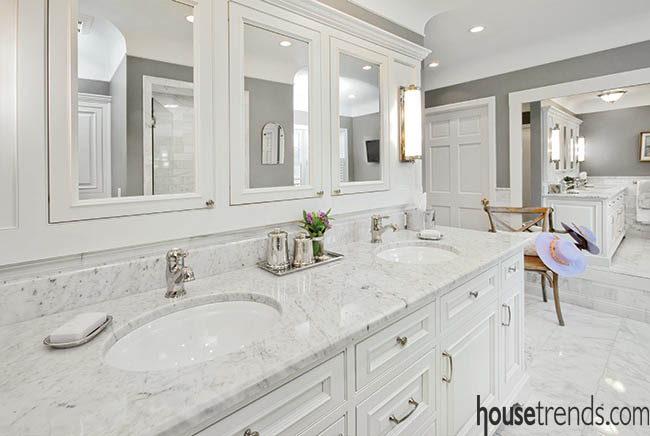 Bathroom mirrors bring light and elegance to a space